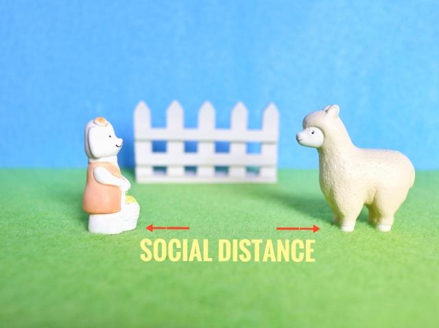 h3対人距離を保つ